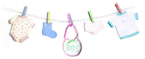 Coolest baby shower decoration ideas for Baby clothesline decoration baby shower