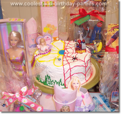Barbie and Spider Man Birthday Party